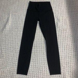 Lululemon black Wunder Under Tights 7/8 Size 4